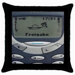 Nokia 3310 Classic Throw Pillow Case (black) by Samandel