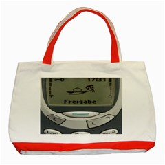 Nokia 3310 Classic Classic Tote Bag (red) by Samandel