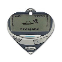 Nokia 3310 Classic Dog Tag Heart (one Side) by Samandel
