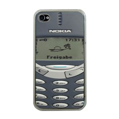 Nokia 3310 Classic Apple Iphone 4 Case (clear)