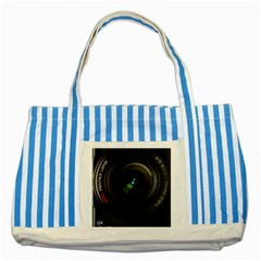 Pentax Camera Striped Blue Tote Bag