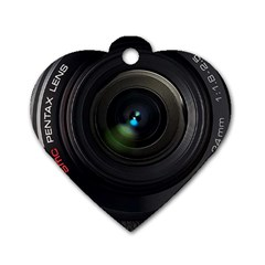 Pentax Camera Dog Tag Heart (one Side)
