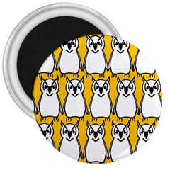 Yellow Owl Background 3  Magnets