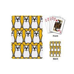 Yellow Owl Background Playing Cards (mini)
