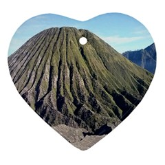 Mount Batok Bromo Indonesia Heart Ornament (two Sides) by Samandel