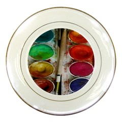 Paint Box Porcelain Plates