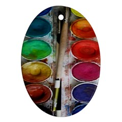 Paint Box Oval Ornament (two Sides)