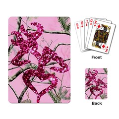 Love Browning Deer Glitter Playing Cards Single Design