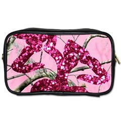 Love Browning Deer Glitter Toiletries Bag (two Sides) by Samandel