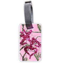 Love Browning Deer Glitter Luggage Tags (one Side)
