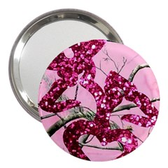 Love Browning Deer Glitter 3  Handbag Mirrors