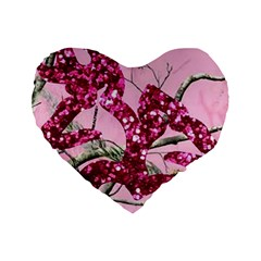 Love Browning Deer Glitter Standard 16  Premium Heart Shape Cushions by Samandel