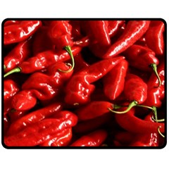 Red Chili Double Sided Fleece Blanket (medium)  by Samandel
