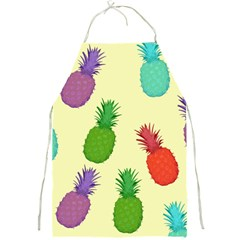 Colorful Pineapples Wallpaper Background Full Print Aprons by Samandel