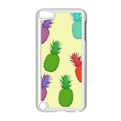 Colorful Pineapples Wallpaper Background Apple Ipod Touch 5 Case (white)