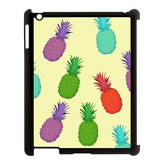 Colorful Pineapples Wallpaper Background Apple Ipad 3/4 Case (black) by Samandel