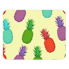 Colorful Pineapples Wallpaper Background Double Sided Flano Blanket (large)