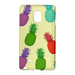 Colorful Pineapples Wallpaper Background Samsung Galaxy Note Edge Hardshell Case by Samandel