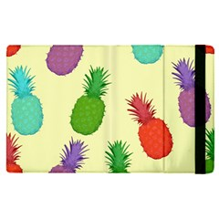 Colorful Pineapples Wallpaper Background Apple Ipad Pro 9 7   Flip Case