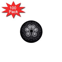 Fractal Filigree Lace Vintage 1  Mini Buttons (100 Pack)