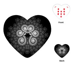 Fractal Filigree Lace Vintage Playing Cards (heart) by Samandel