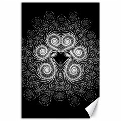 Fractal Filigree Lace Vintage Canvas 24  X 36