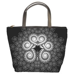 Fractal Filigree Lace Vintage Bucket Bag
