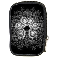 Fractal Filigree Lace Vintage Compact Camera Leather Case