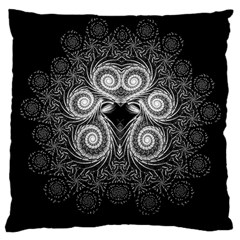 Fractal Filigree Lace Vintage Large Cushion Case (one Side) by Samandel