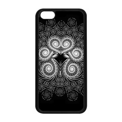 Fractal Filigree Lace Vintage Apple Iphone 5c Seamless Case (black) by Samandel