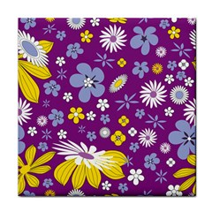Floral Flowers Tile Coasters