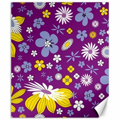 Floral Flowers Canvas 20  X 24