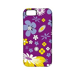 Floral Flowers Apple Iphone 5 Classic Hardshell Case (pc+silicone)