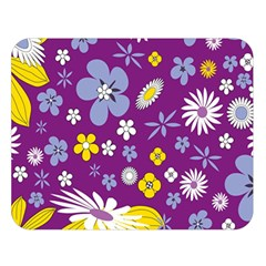 Floral Flowers Double Sided Flano Blanket (large)