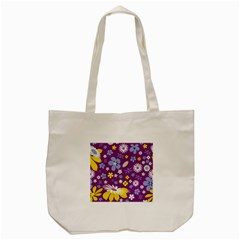 Floral Flowers Tote Bag (cream)