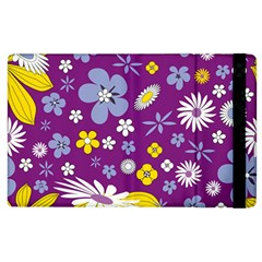 Floral Flowers Apple Ipad 2 Flip Case by Samandel