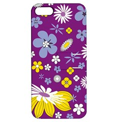 Floral Flowers Apple Iphone 5 Hardshell Case With Stand