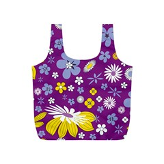 Floral Flowers Full Print Recycle Bag (s) by Samandel