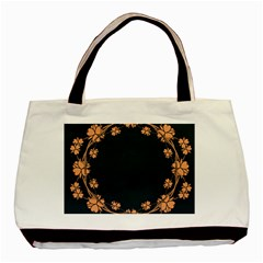 Floral Vintage Royal Frame Pattern Basic Tote Bag