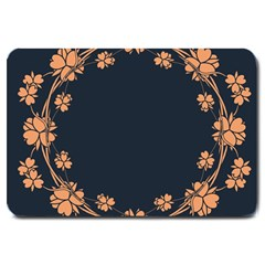 Floral Vintage Royal Frame Pattern Large Doormat
