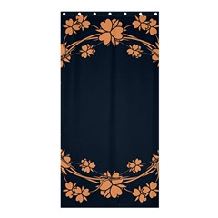 Floral Vintage Royal Frame Pattern Shower Curtain 36  X 72  (stall)
