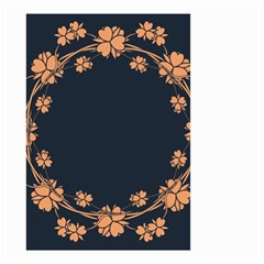 Floral Vintage Royal Frame Pattern Small Garden Flag (two Sides)