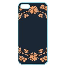 Floral Vintage Royal Frame Pattern Apple Seamless Iphone 5 Case (color) by Samandel