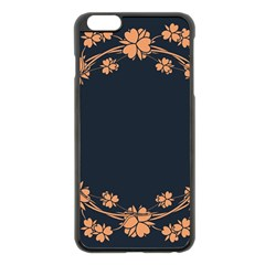 Floral Vintage Royal Frame Pattern Apple Iphone 6 Plus/6s Plus Black Enamel Case
