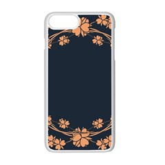 Floral Vintage Royal Frame Pattern Apple Iphone 7 Plus Seamless Case (white)