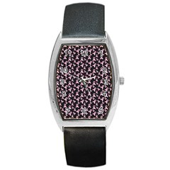 Breast Cancer Wallpapers Barrel Style Metal Watch