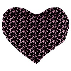 Breast Cancer Wallpapers Large 19  Premium Heart Shape Cushions