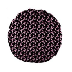 Breast Cancer Wallpapers Standard 15  Premium Flano Round Cushions