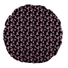 Breast Cancer Wallpapers Large 18  Premium Flano Round Cushions