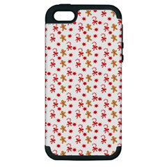 Cake Christmas Gingerbread Man Wallpapers Apple Iphone 5 Hardshell Case (pc+silicone) by Alisyart